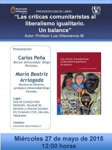 afiche presentación libro profesor Luis Villavicencio 27 mayo 2015